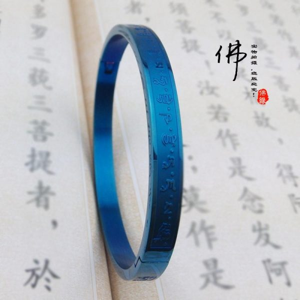 009 Blue Medicine Buddha initiation mantra bracelet heart illnesses and health Kangping An Body opening couple models of men and women yard (1)