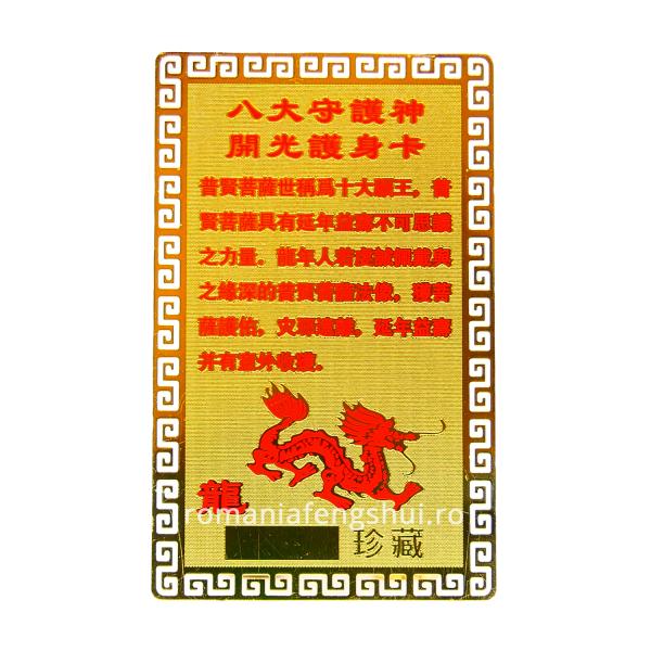 Card Dragon spate bg alb